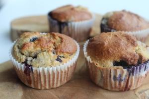 Blauwe bessen muffin